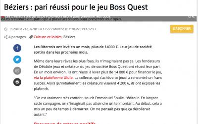 Béziers : pari réussi pour le jeu Boss Quest .