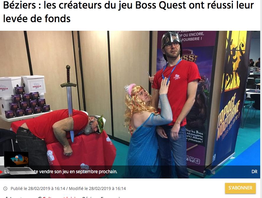 Béziers: le jeu Boss Quest a collecté 16 245 euros